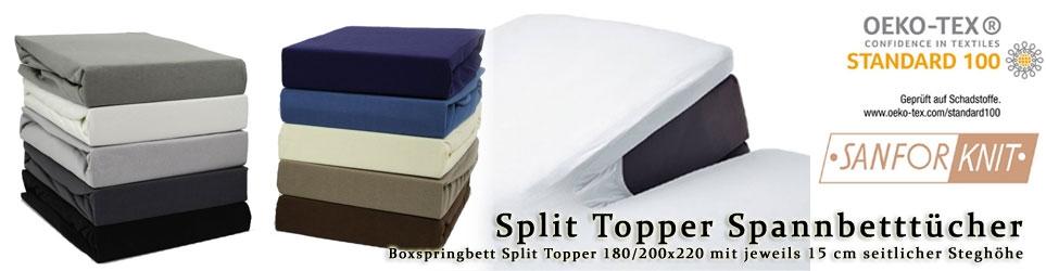 180/200x200+15cm Split Topper