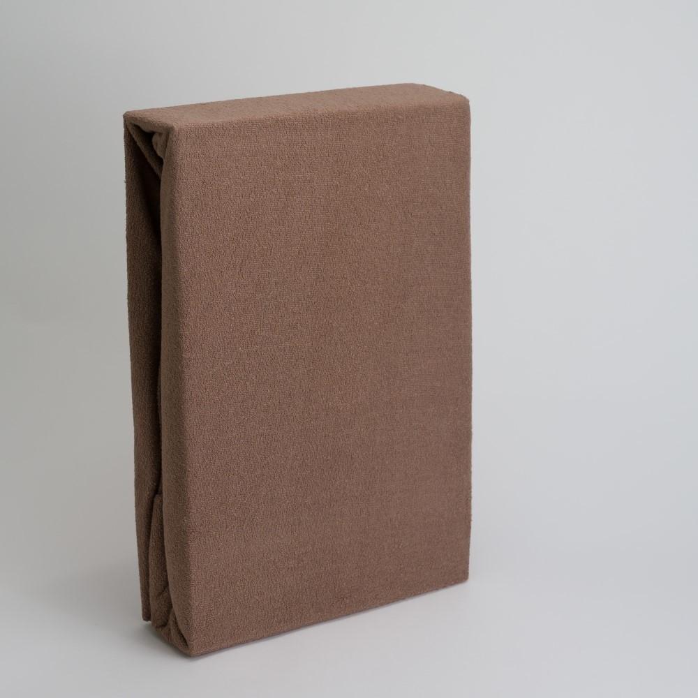 Frottee Spannbettlaken 80% Baumwolle/ 20% Polyester 90/100x200+28cm Nougat