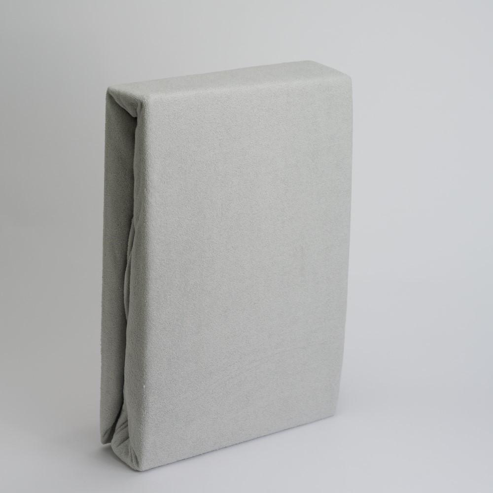 Frottee Spannbettlaken 80% Baumwolle/ 20% Polyester 180/200x200+28cm Silber