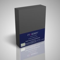 BOXSPRING TOPPER JERSEY SPANNBETTLAKEN 100% Baumwolle-Anthrazit-200x200+15cm