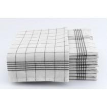 Geschirrtücher 100% Baumwolle-Anthrazit-10 Stück 50x70cm