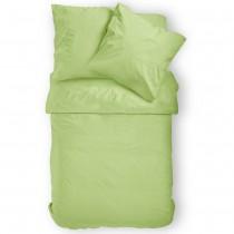 Renforcé Uni Bettwäsche aus 100% Baumwolle in 11 Farben-Apfelgrün-135x200cm + 80x80cm 2er Tlg