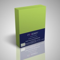Boxspring Topper Jersey Spannbettlaken 100% Baumwolle-Apfelgrün-200x200+15cm