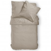 Renforcé Uni Bettwäsche aus 100% Baumwolle in 11 Farben-Beige-155x220cm + 80x80cm 2er Tlg