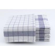 Geschirrtücher 100% Baumwolle-Blau-5 Stück 50x70cm