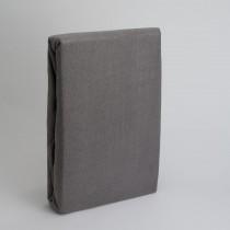 Frottee Spannbettlaken Betttuch 100% Baumwolle-Grau-100x200+28cm