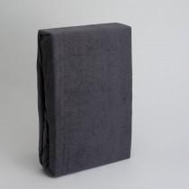 Frottee Spannbettlaken Betttuch 100% Baumwolle-Anthrazit-160x200+28cm