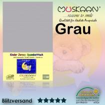 Kinder / Baby Jersey Spannbettlaken Spannbetttuch Betttuch Baumwolle 70x140 cm-Grau-70x140+28cm
