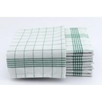 Geschirrtücher 100% Baumwolle-Grün-10 Stück 50x70cm