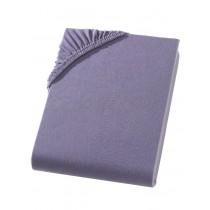 Heavy Jersey Topper Bettlaken 100% Baumwolle Anthrazit-180/200x200+15cm