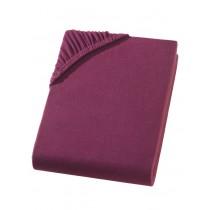 Jersey Spannbettlaken Boxspring 100% Baumwolle-Bordeaux-180/200x200/220+40cm