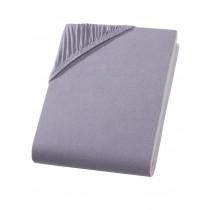 Heavy Jersey Topper Bettlaken 100% Baumwolle Grau-140/160x200+15cm