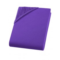 Jersey Spannbettlaken Boxspring 100% Baumwolle-Lila / Violett-180/200x200/220+40cm