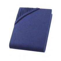 Heavy Jersey Spannbettlaken Betttuch Bettlaken 100% Baumwolle 9 Größen 10 Farben-Navy / Marine-160x220+40cm