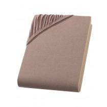 Heavy Jersey Topper Bettlaken 100% Baumwolle Nougat-180/200x200+15cm