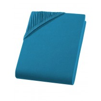 Jersey Spannbettlaken Boxspring 100% Baumwolle-Petrol-180/200x200/220+40cm