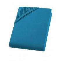 Heavy Jersey Spannbettlaken Topper Split Bettlaken 100% Baumwolle 9 Größen 10 Farben-Petrol-200x200+15cm Split