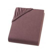 Heavy Jersey Topper Bettlaken 100% Baumwolle Schokobraun-180/200x200+15cm