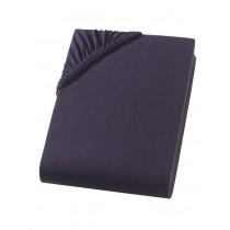 Heavy Jersey Topper Bettlaken 100% Baumwolle Schwarz-140/160x200+15cm