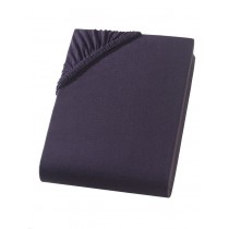 Heavy Jersey Boxspring Bettlaken 100% Baumwolle -140/160x220+40cm Schwarz