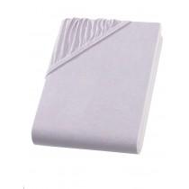 Heavy Jersey Spannbettlaken Topper Split Bettlaken 100% Baumwolle 9 Größen 10 Farben-Silber-200x200+15cm Split