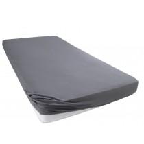 Jersey Spannbettlaken 100% Baumwolle-Anthrazit-140/160x200+28 cm