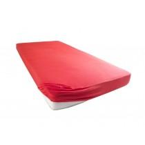 Jersey Spannbettlaken Betttuch Bettlacken 100% Baumwolle-Rot-100x200+28 Cm