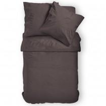 Renforcé Uni Bettwäsche aus 100% Baumwolle in 11 Farben-SchokoBraun-135x200cm + 80x80cm 2er Tlg