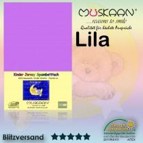 Kinder / Baby Jersey Spannbettlaken Spannbetttuch Betttuch Baumwolle 70x140 cm-Lila / Violett-70x140+28cm