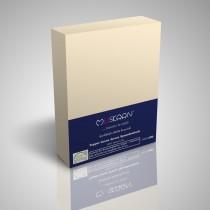 BOXSPRING TOPPER JERSEY SPANNBETTLAKEN 100% Baumwolle-Natur-200x200+15cm