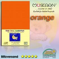Kinder / Baby Jersey Spannbettlaken Spannbetttuch Betttuch Baumwolle 70x140 cm-Orange-70x140+28cm