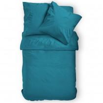 Renforcé Uni Bettwäsche aus 100% Baumwolle in 11 Farben-Petrol-155x220cm + 80x80cm 2er Tlg