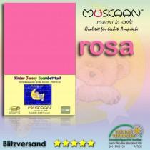 Kinder / Baby Jersey Spannbettlaken Spannbetttuch Betttuch Baumwolle 70x140 cm-Rosa-70x140+28cm