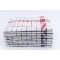 Geschirrtücher 100% Baumwolle-Rot/Blau-10 Stück 50x70cm