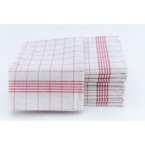 Geschirrtücher 100% Baumwolle-Rot-10 Stück 50x70cm