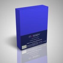 BOXSPRING TOPPER JERSEY SPANNBETTLAKEN 100% Baumwolle-Royal-200x200+15cm