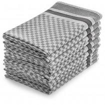 Grubentücher Halbzwirn 100% Baumwolle-Anthrazit-10 Stück 50 x 100 cm
