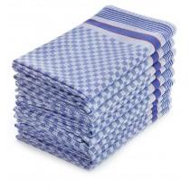 Grubentücher Halbzwirn 100% Baumwolle-Blau-10 Stück 50 x 100 cm