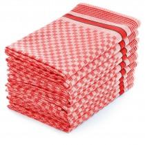 Grubentücher 100% Baumwolle-Rot-5 Stück 45x90cm