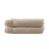 2er Set Handtuch 100% Baumwolle - 50x100cm in 500g/m² -Beige