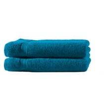 2er Set Handtuch 100% Baumwolle - 50x100cm in 500g/m² -Petrol