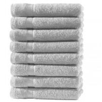 Frottiertücher Pack 100% BW, 500g/m², flauschig weich-Silber-8 Stück 30x50cm - Gästetücher