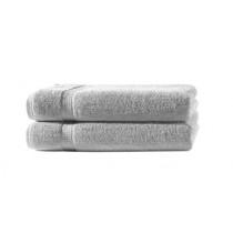 2er Set Handtuch 100% Baumwolle - 50x100cm in 500g/m² -Silber