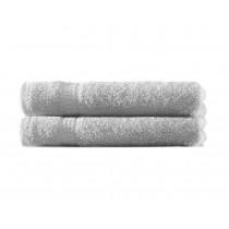 Handtuch 100% BW, 500g/m², Zero Twist, flauschig weich-Silber-50x100cm