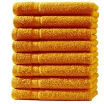 Frottiertücher Pack 100% BW, 500g/m², flauschig weich-Orange-8 Stück 30x50cm - Gästetücher