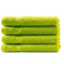 Frottiertücher Pack 100% BW, 500g/m², flauschig weich-Apfelgrün-4 Stück 50x100cm - Handtuch