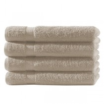 4er Pack Handtücher 100% Baumwolle 500g/m² -Beige-50x100cm
