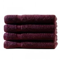 Frottiertücher Pack 100% BW, 500g/m², flauschig weich-Bordeaux-4 Stück 50x100cm - Handtuch