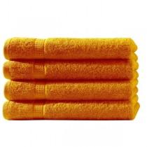 Frottiertücher Pack 100% BW, 500g/m², flauschig weich-Orange-4 Stück 50x100cm - Handtuch