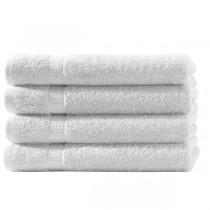Frottiertücher Pack 100% BW, 500g/m², flauschig weich-Weiß-4 Stück 50x100cm - Handtuch